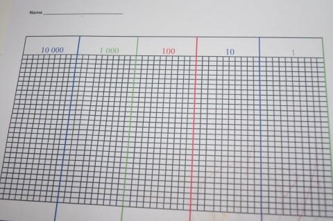 Reforzar la suma introduciendo ecuaciones con Montessori