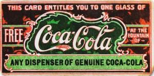Cupón de CocaCola del siglo XIX