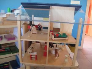 Ambiente preparado en miniatura